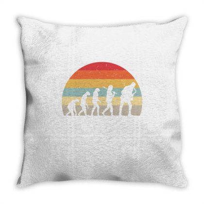 Saxophone Vintage Evolution For Saxophone Player Throw Pillow Designed By Ngiart