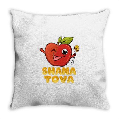 Shana Tova For Jewish New Year Throw Pillow Designed By Ngiart