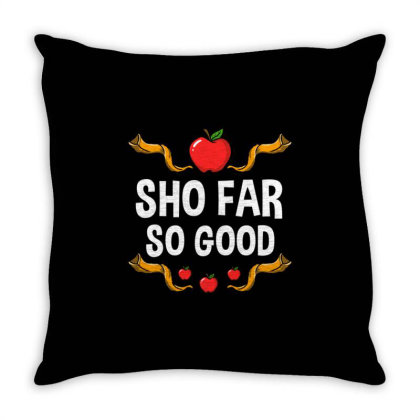 Sho Far So Good For Jewish New Year Throw Pillow Designed By Ngiart