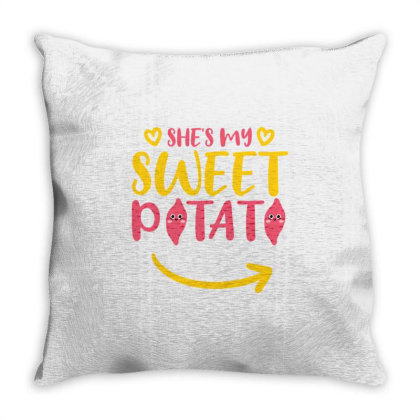 She's My Sweet Potato For Valentine's Day Throw Pillow Designed By Ngiart