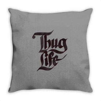 Thug Life Throw Pillow Designed By Şen