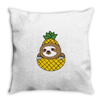 Sloth Pineapple For Sloth Lover Throw Pillow Designed By Ngiart