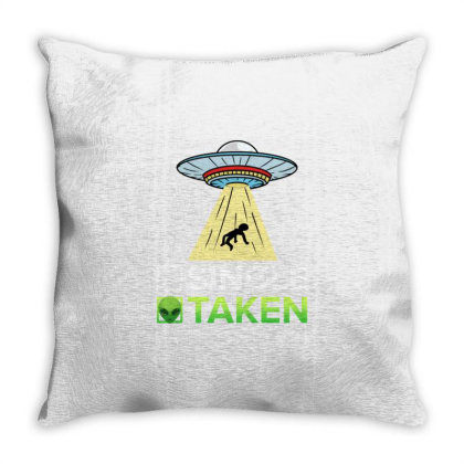 Single Or Taken For Alien Valentines Day Throw Pillow Designed By Ngiart