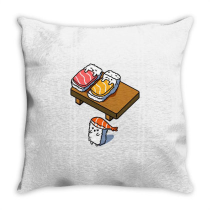 Sleep Walking Sushi For Sushi Lover Throw Pillow Designed By Ngiart