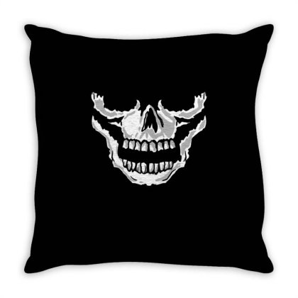 Skull Mouth For Skull Lover Throw Pillow Designed By Ngiart