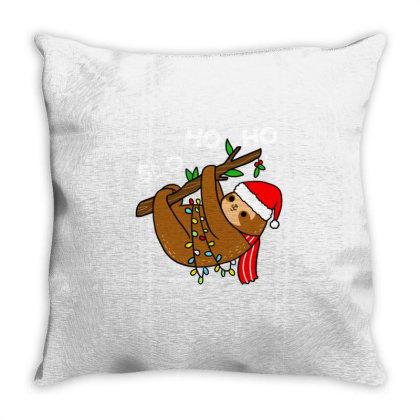 Slo Ho Ho For Christmas Season Throw Pillow Designed By Ngiart