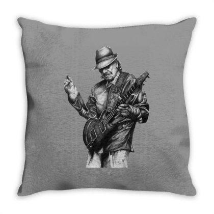 Carlos Santana Art Throw Pillow Designed By Şen