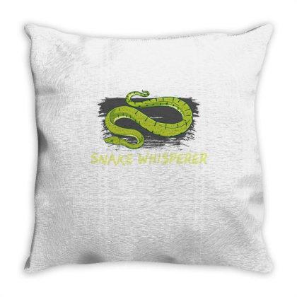 Snake Whisperer For Snake Lover Throw Pillow Designed By Ngiart