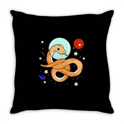 Snake Astronaut For Snake Lover Throw Pillow Designed By Ngiart