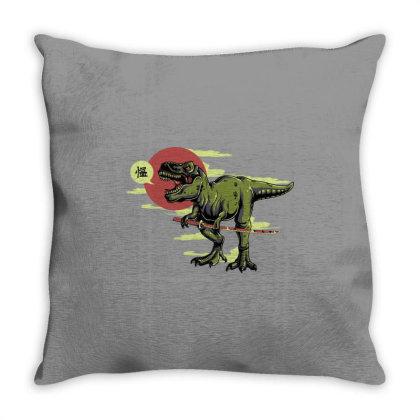 T Rex Dinosaur Throw Pillow Designed By Şen