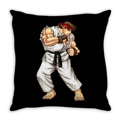 Street Fighter Throw Pillow Designed By Şen