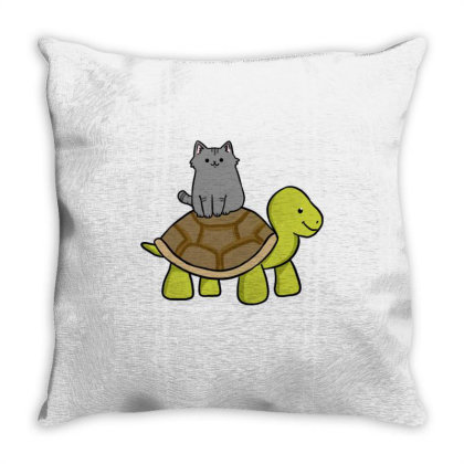 Source Cat Riding Turtle For Cat Riding Fan T Shirt Throw Pillow Designed By Ngiart