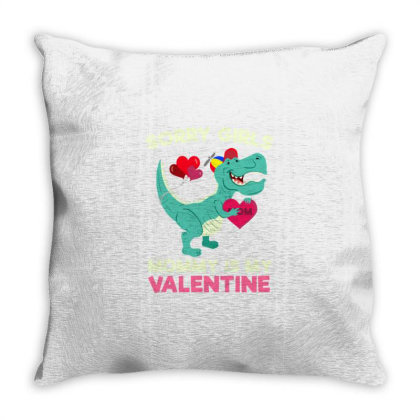Sorry Girls Mommy Is My Valentine For Valentines Day Throw Pillow Designed By Ngiart