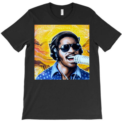 Wonder Singing By Stevie T-shirt Designed By Princeone