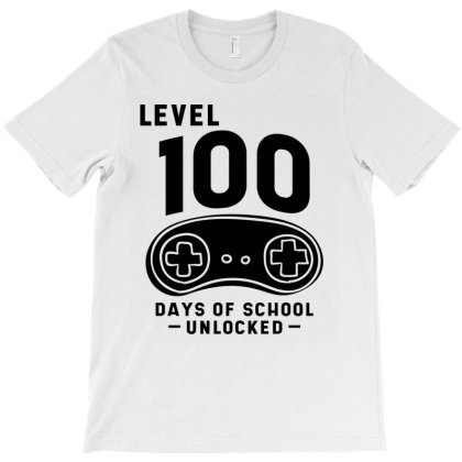 100th Day Of School - For Kids Video Games T-shirt Designed By Diogo Calheiros