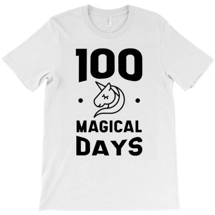 100th Day Of School - Unicorn Teacher Or Student T-shirt Designed By Diogo Calheiros