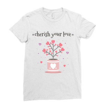 Cherish You Love Ladies Fitted T-shirt Designed By Estore