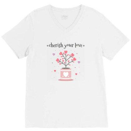 Cherish You Love V-neck Tee Designed By Estore