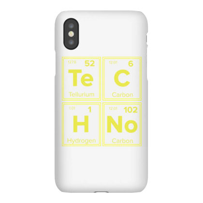 Techno Periodic Table For Techno Lover Iphonex Case Designed By Ngiart