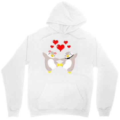 Valentines Day Penguin Couple Unisex Hoodie