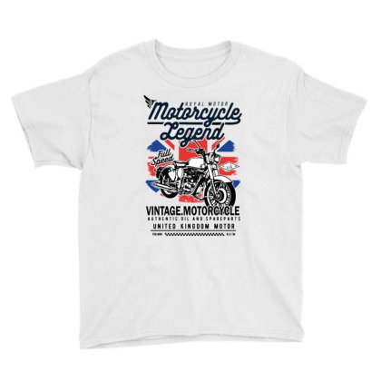 Motorcycle Legend Youth Tee Designed By Brave Tees