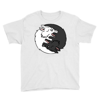 Yin Yang Wolf For Yin Yang Art Lover Youth Tee Designed By Ngiart