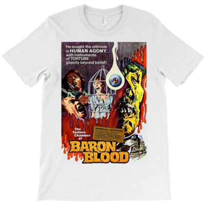 Baron Blood. Classic Terror Movie T-shirt Designed By Activoskishop