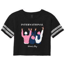 International Women's Day Scorecard Crop Tee Designed By D'metra