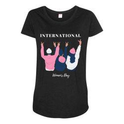 International Women's Day Maternity Scoop Neck T-shirt   Artistshot
