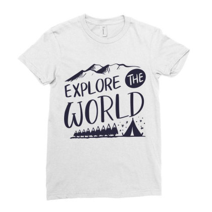Explore The World Ladies Fitted T-shirt Designed By Estore