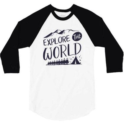 Explore The World 3/4 Sleeve Shirt Designed By Estore