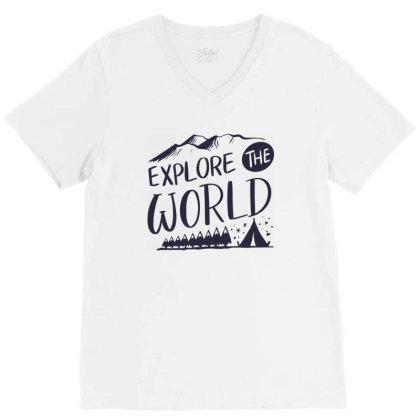 Explore The World V-neck Tee Designed By Estore