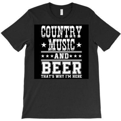 Country Music And Beer T-shirt Designed By Princeone