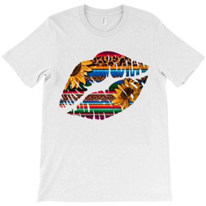 Aztec Sunflower Lips T-shirt Designed By Bettercallsaul
