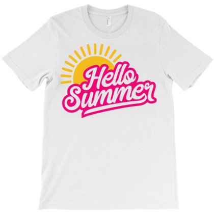 Hello Summer T-shirt Designed By Ombredreams