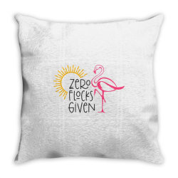 Zero Flocks Given Throw Pillow | Artistshot