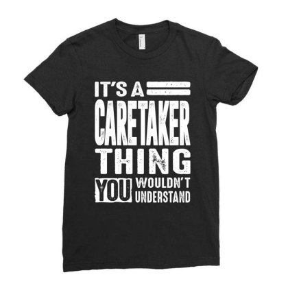 Caretaker Gift Funny Job Title Profession Birthday Idea Ladies Fitted T-shirt Designed By Cidolopez