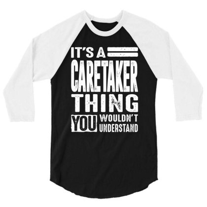 Caretaker Gift Funny Job Title Profession Birthday Idea 3/4 Sleeve Shirt Designed By Cidolopez