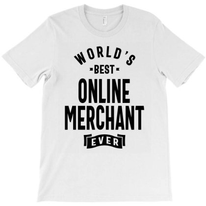 Online Merchant Gift Funny Job Title Profession Birthday Idea T-shirt Designed By Cidolopez