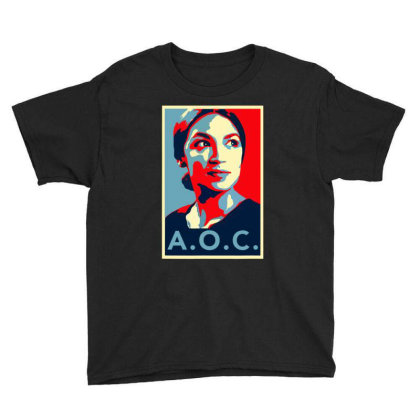 Alexandria Ocasio Cortez Aoc New Party Who Dis Hope Youth Tee Designed By Omg Shirt