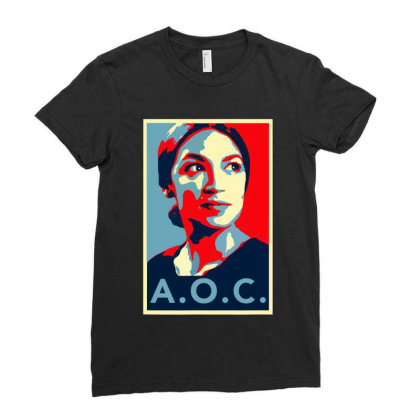 Alexandria Ocasio Cortez Aoc New Party Who Dis Hope Ladies Fitted T-shirt Designed By Omg Shirt