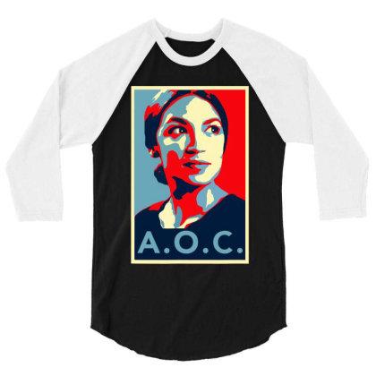 Alexandria Ocasio Cortez Aoc New Party Who Dis Hope 3/4 Sleeve Shirt Designed By Omg Shirt