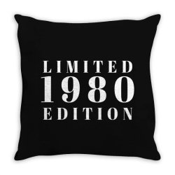 Limited Edition 1980 Throw Pillow | Artistshot