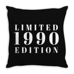 Limited Edition 1990 Throw Pillow | Artistshot