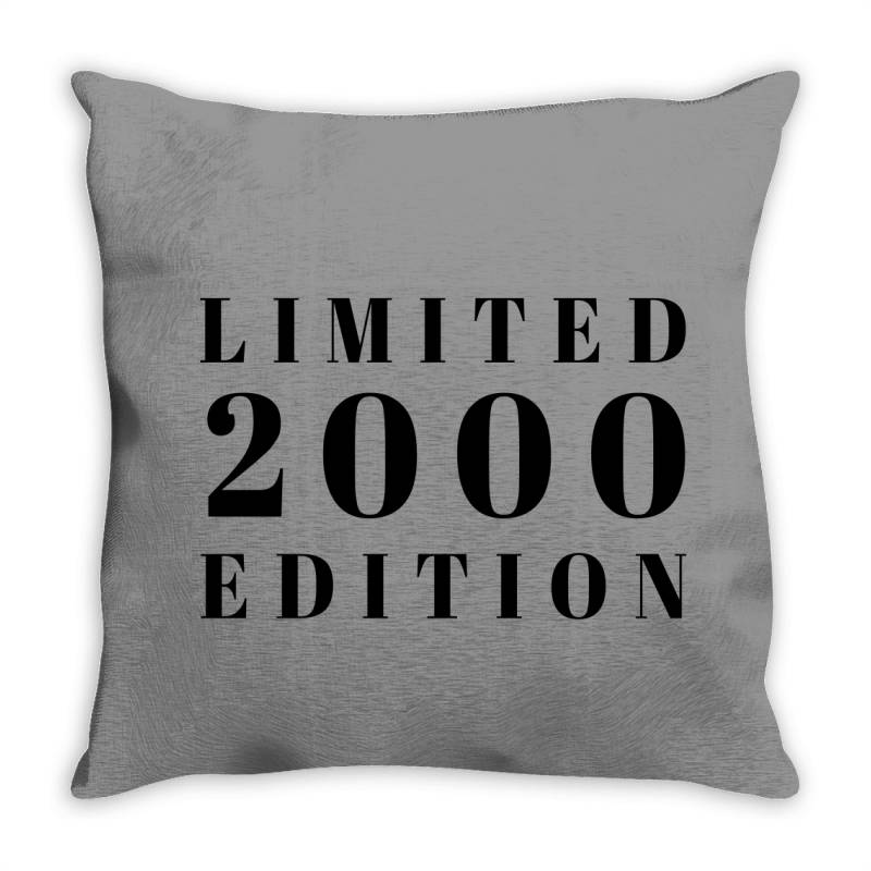 Limited Edition 2000 Throw Pillow | Artistshot