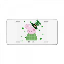 Peppa Pig St. Patrick's Day License Plate | Artistshot