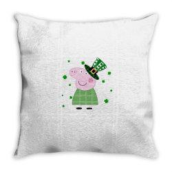 Peppa Pig St. Patrick's Day Throw Pillow | Artistshot