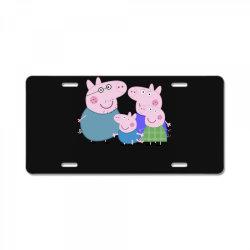 peppa pig family License Plate | Artistshot