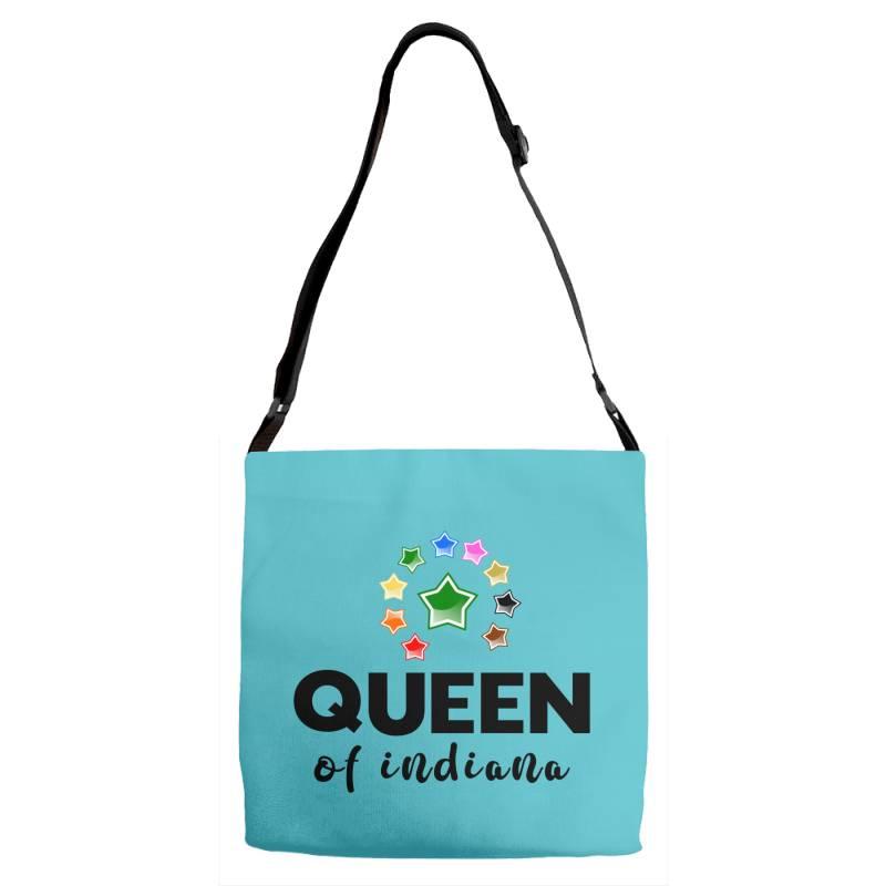 Queen Of Indiana Adjustable Strap Totes   Artistshot