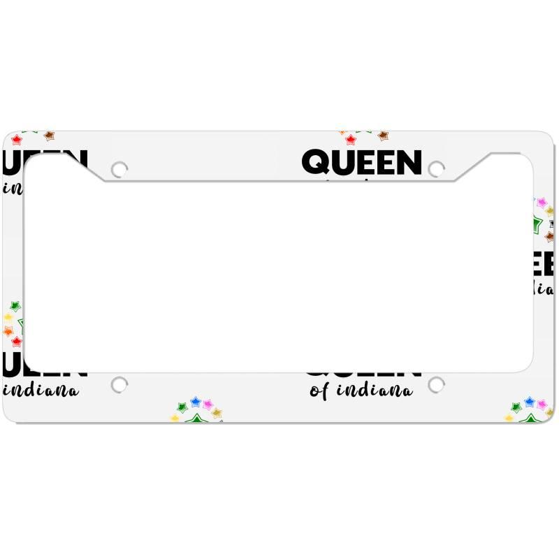 Queen Of Indiana License Plate Frame | Artistshot
